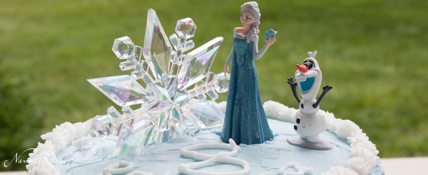 Frozen party at the pool