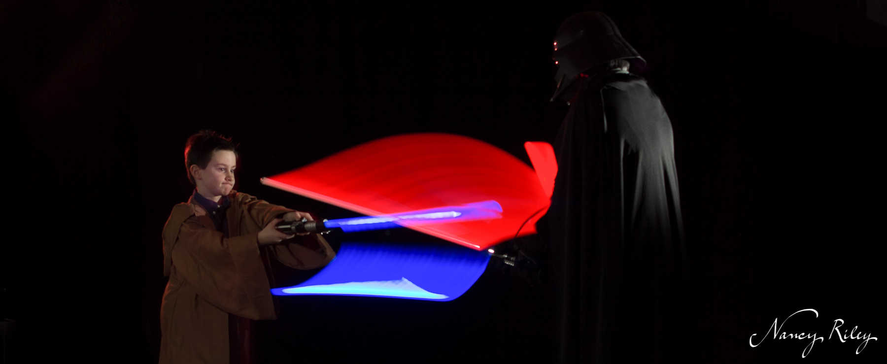 Lightsabers in the dark