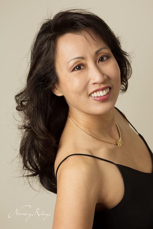 Portrait in black dress
