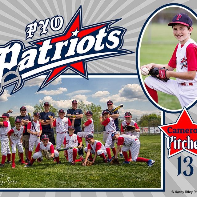 Baseball team individual collage