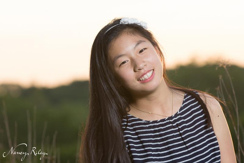 girl portrait by field