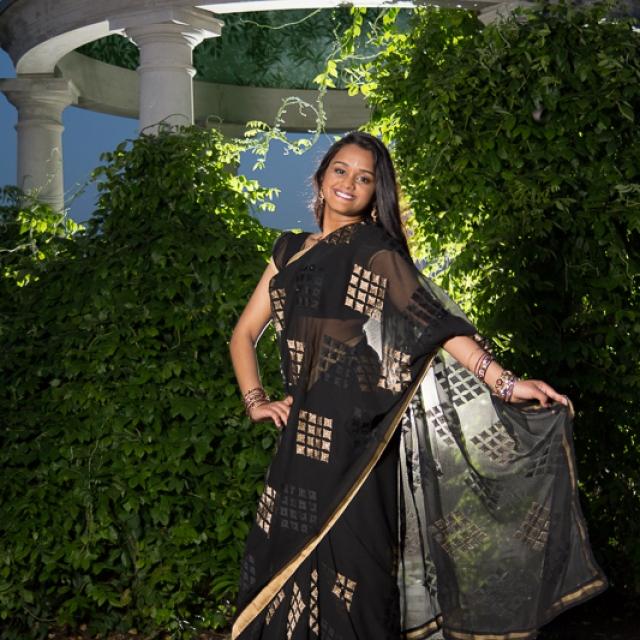Senior Girl in Sari