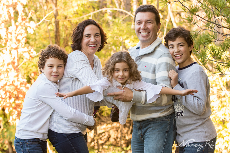 family portrait backyard