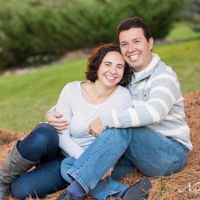 Couple in backyard