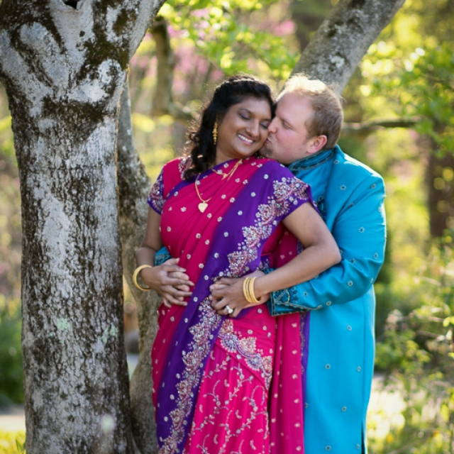 Couple in traditional Indian clothes