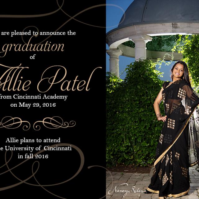 Elegant graduation announcement