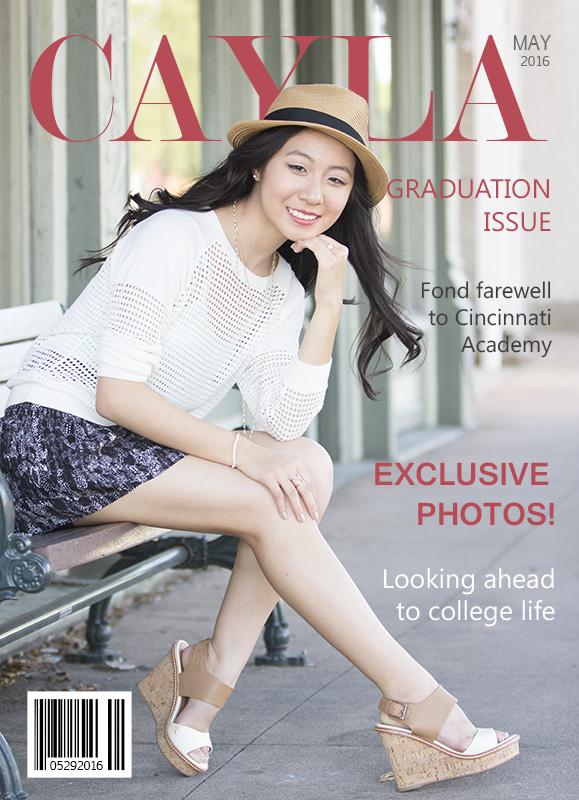 Magazine cover graduation announcement
