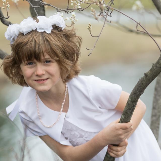 First Communion girl