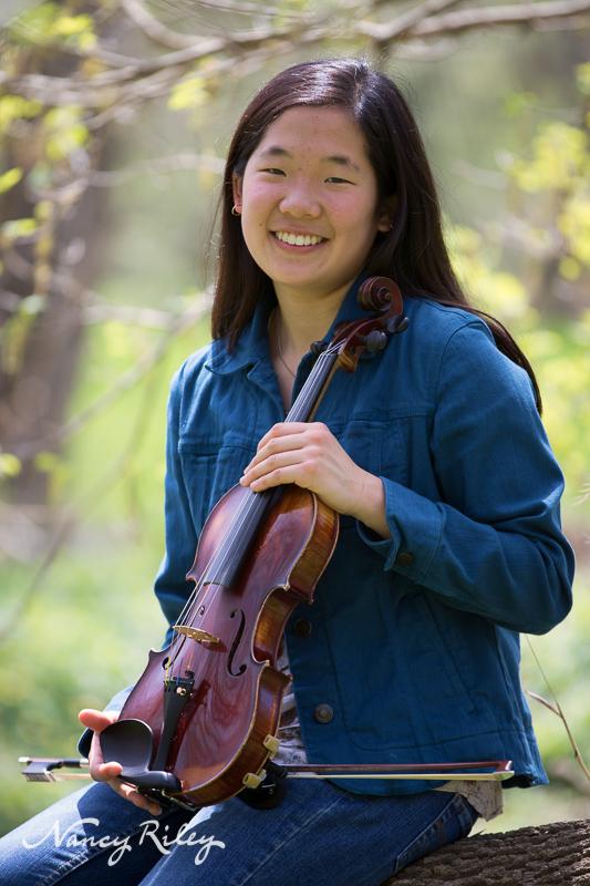 Senior Girl With Violin