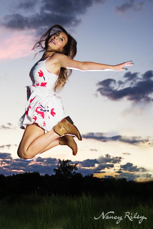 Leaping senior