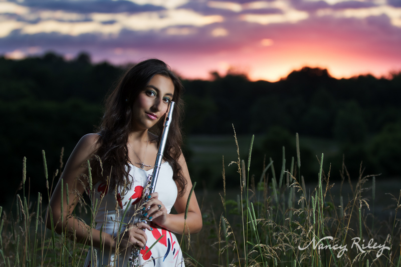 Senior flute portrait