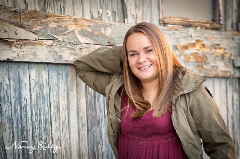 Senior Girl With Barn Wall