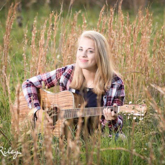 Senior Girl With Guitar