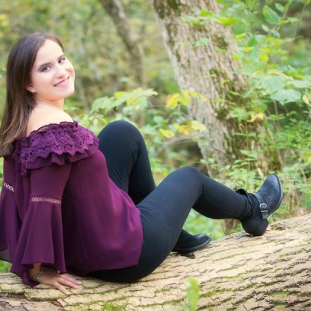 Senior Girl on Log