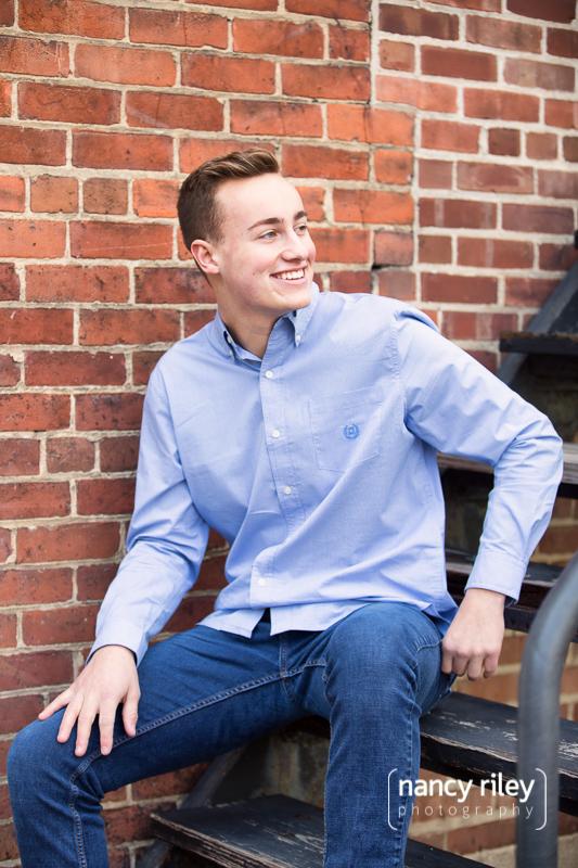 Senior boy sitting
