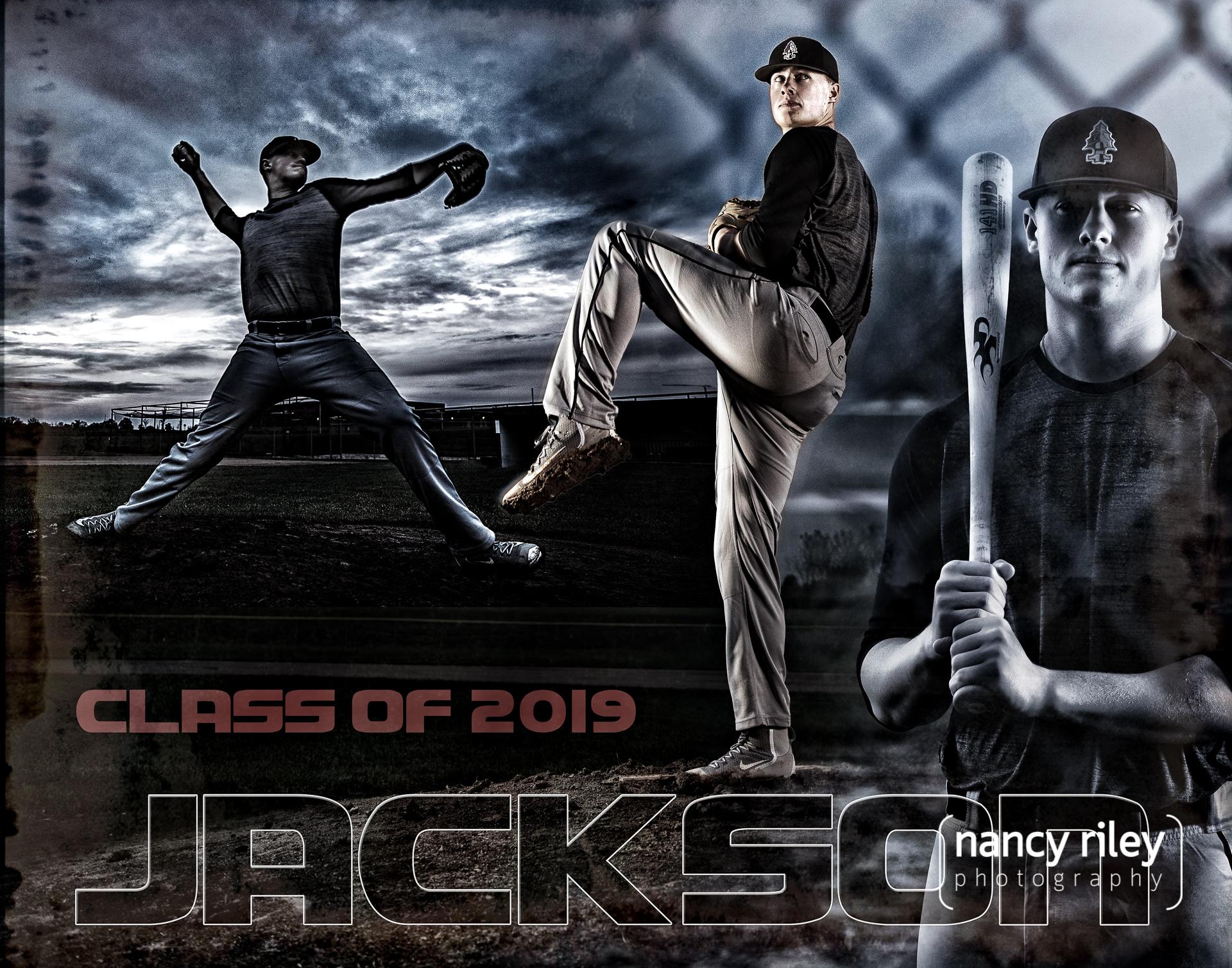 Baseball senior portraits with Jackson