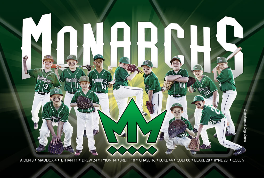 Baseball banner–Mason Monarchs