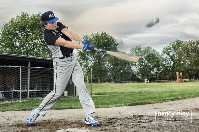 Baseball senior portrait