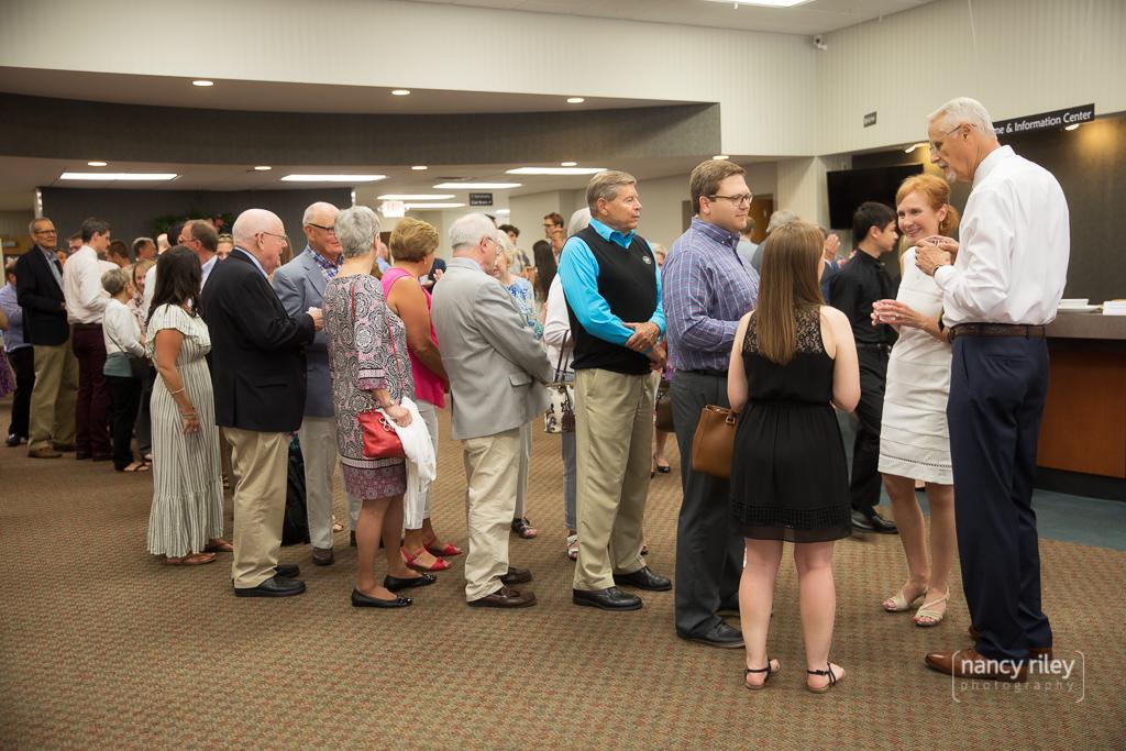 Wedding reception line