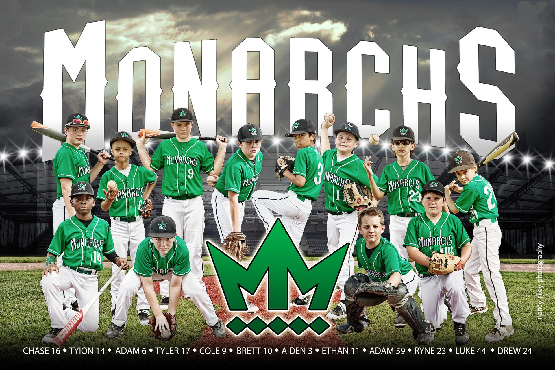 Mason Monarchs baseball team banner