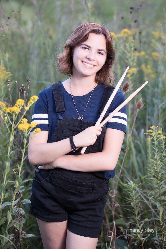 Senior girl drummer