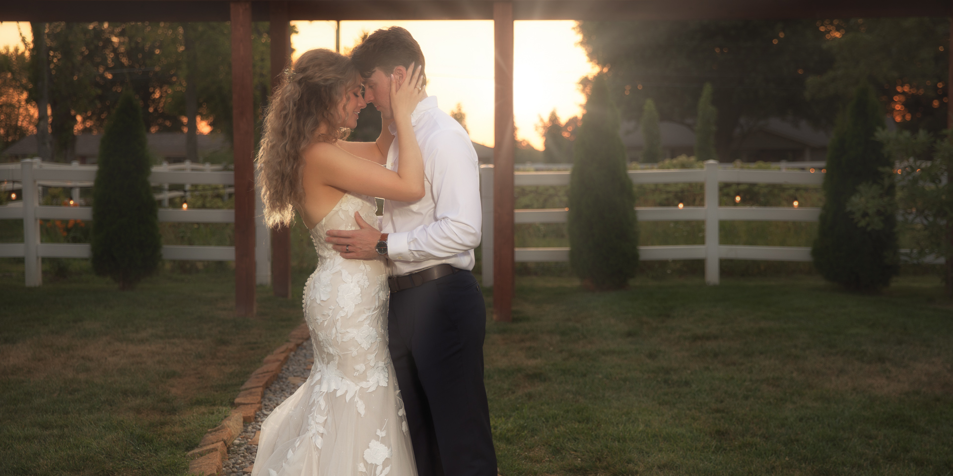 Marmalade Lily wedding sunset